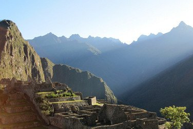 machu picchu at sunrise on winter solstice cusco peru
