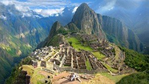 view of machu picchu from inca trail trek