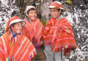 local children at a charity event lares valley killa expeditions social projects