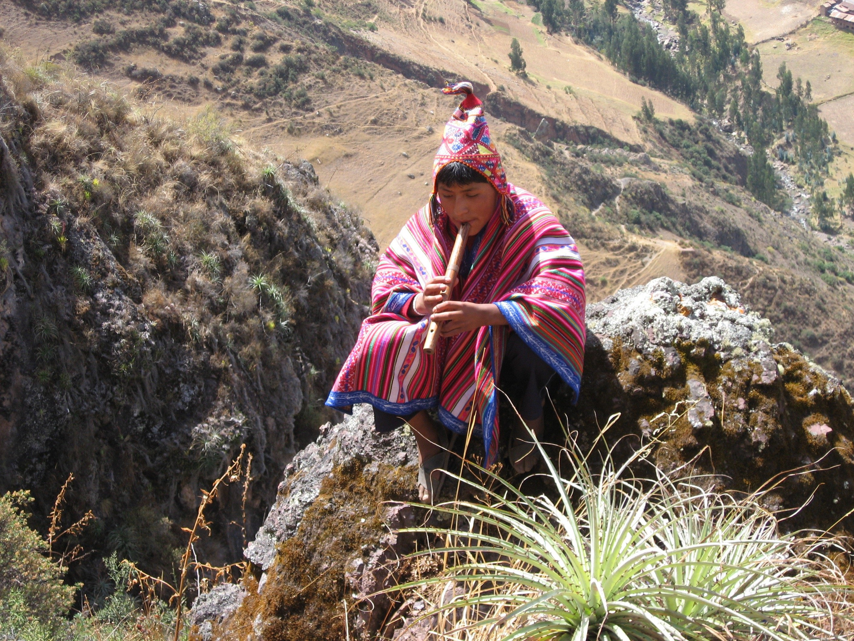 Indigenous boy in Pisac