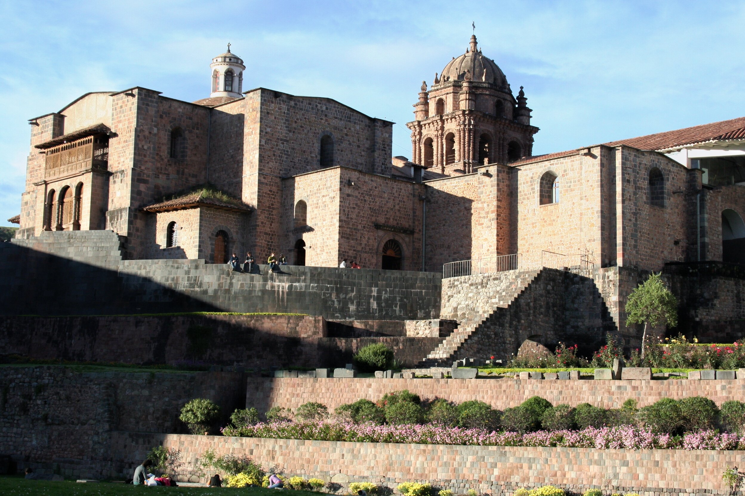 Qoricancha santo domingo church in cusco peru on the walking tour