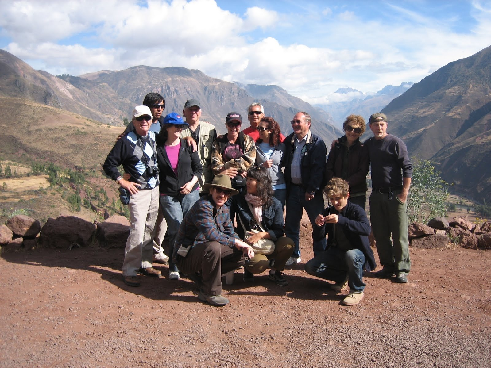 Tour group in the Sacred Valley, Cusco, Peru