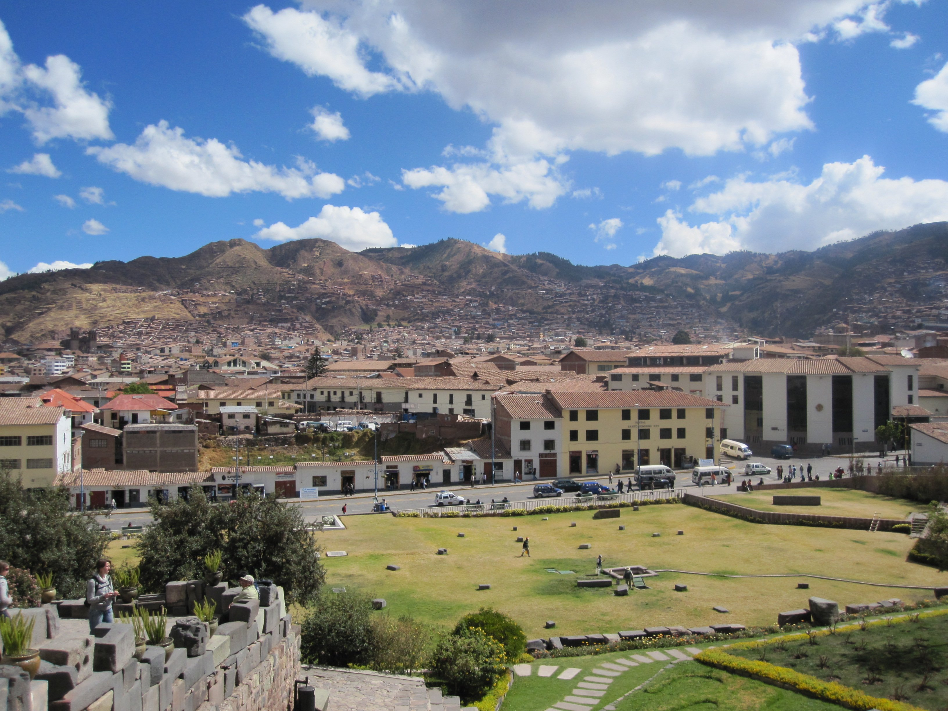view from qoricancha santo domingo church on the cusco city walking tour