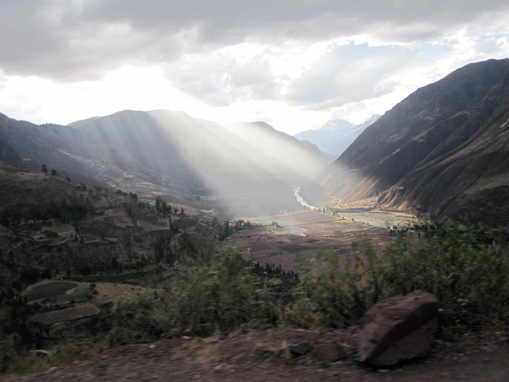 View of the Sacred Valley, Cusco, Peru