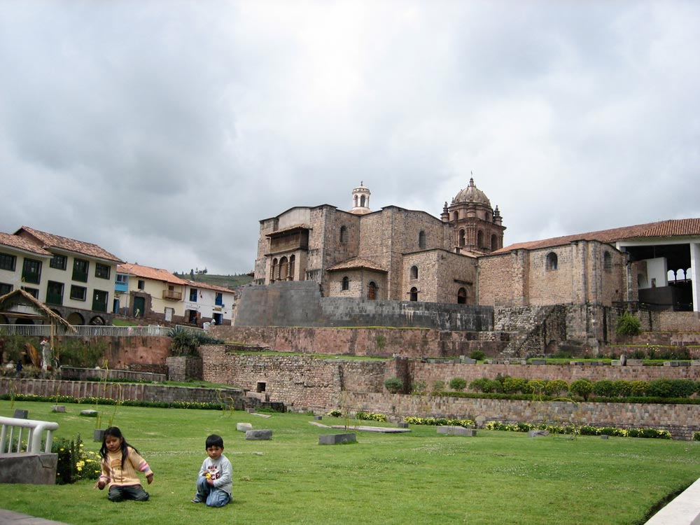 view of qoricancha santo domingo church on the cusco city walking tour