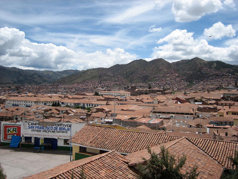 view of cusco city from the cusco city walking tour