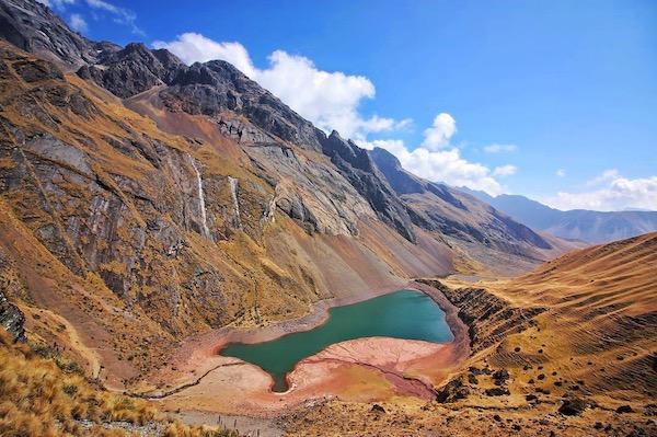 trekking to ancascocha lake on ancascocha trek cusco peru killa expeditions