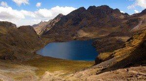 aurora cocha lake on the lares valley trek in cusco peru killa expeditions adventure trekking trips