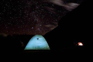tent in ausangate mountains