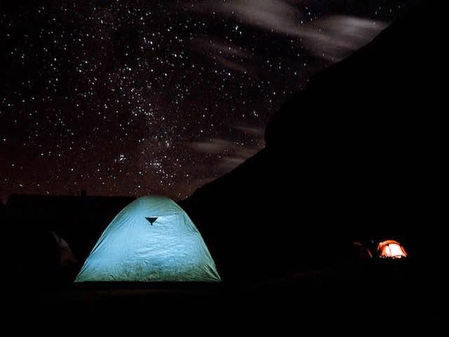 ausangate trek campsite