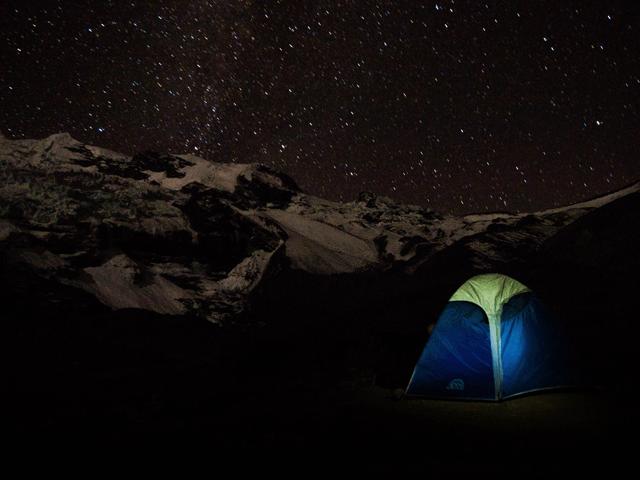 campsite ausangate machu picchu trek