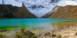 Lake Humantay on the Salkantay Trek to Machu Picchu cusco peru killa expeditions adventure tours