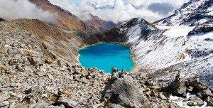 salkantay lake on salkantay trek cusco peru killa expeditions adventure tours