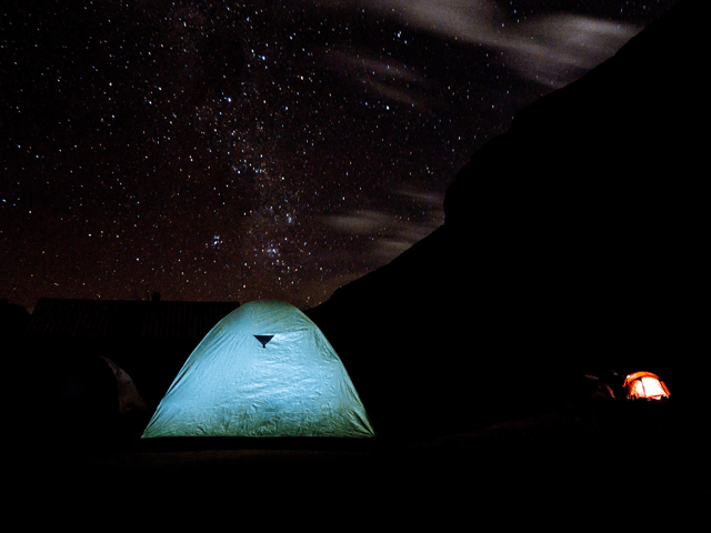 tent setup on ausangate machu picchu trek