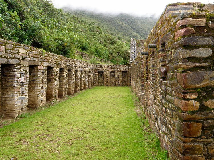 choquequirao ruin site on the choquequirao trek in cusco peru to machu picchu killa expeditions adventure trekking trips