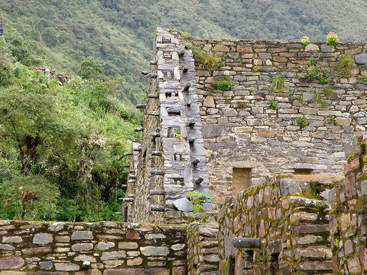 choquequirao ruin site on the choquequirao trek in cusco peru to machu picchu