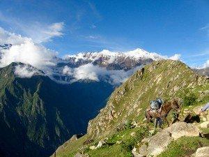 trekking the choquequirao ruins trek in cusco peru to machu picchu killa expeditions adventure trekking trips
