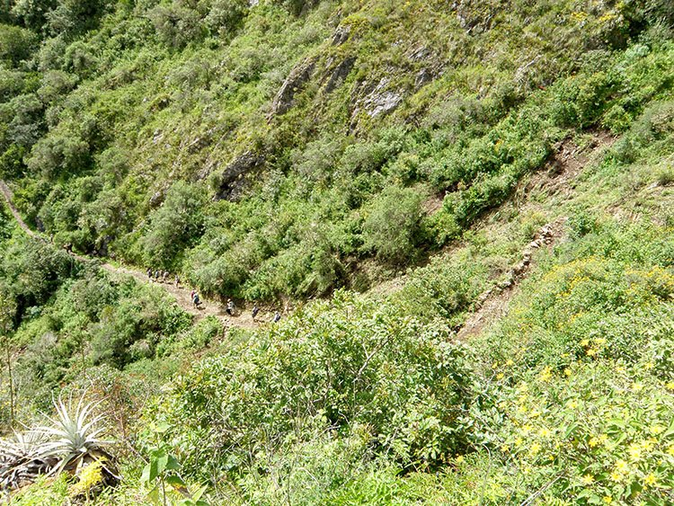 trekking the choquequirao ruins trek in cusco peru to machu picchu