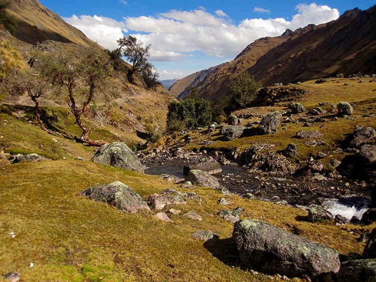 trekking in the lares valley in cusco peru