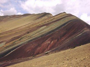 ausangagte rainbow mountain range in cusco, peru