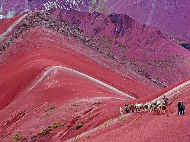 rainbow mountain terrain