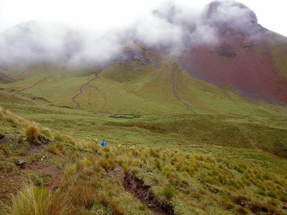 ancascocha trek trail in the andean mountains of peru with killa expeditions