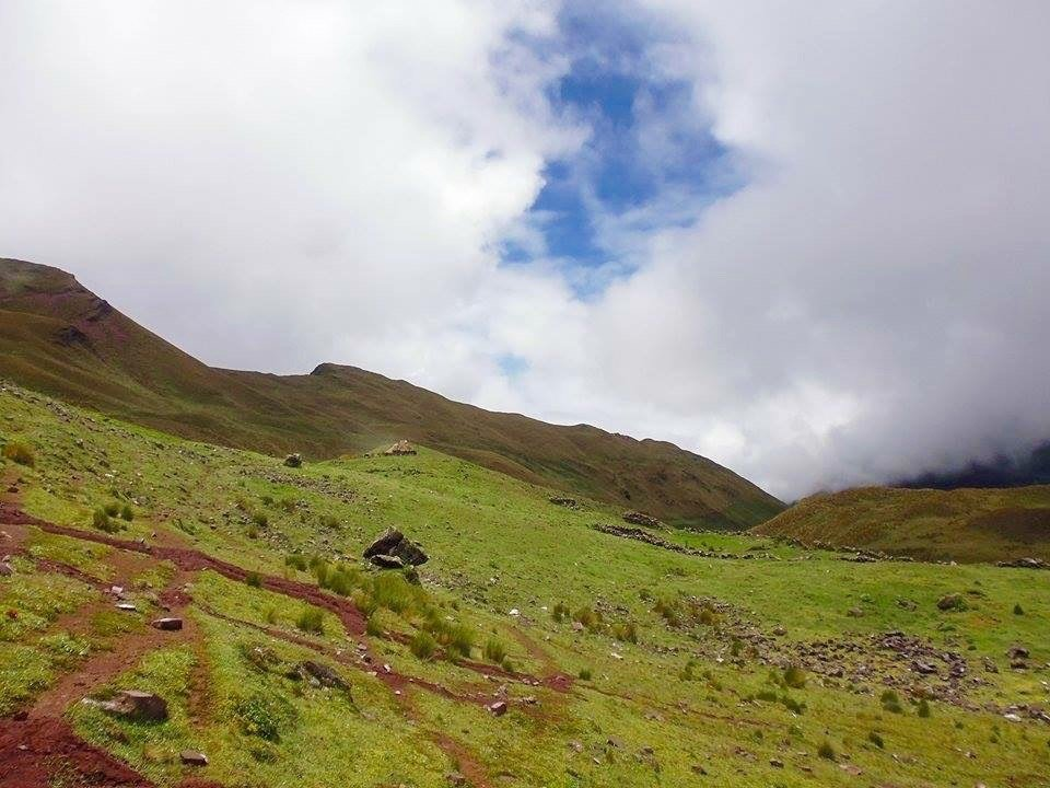lush hiking trails on the Ancascocha Trek Trail in the Andean Mountains of Peru, Killa Expeditions