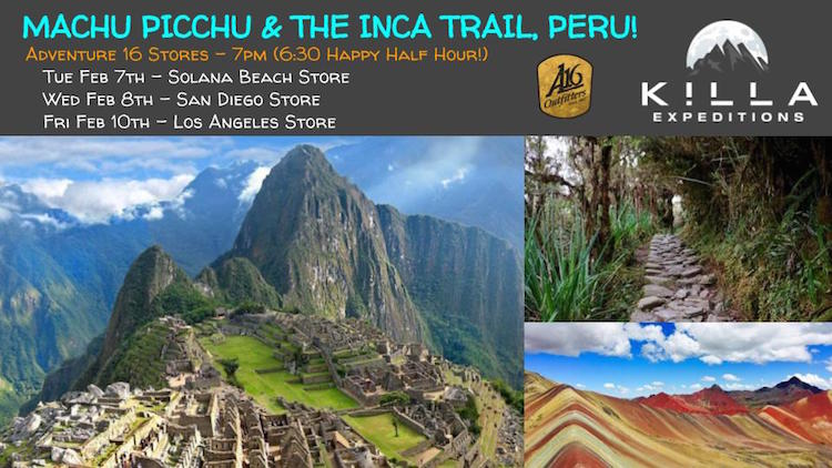 Hiking The Inca Trail To Machu Picchu Talk At Adventure 16!