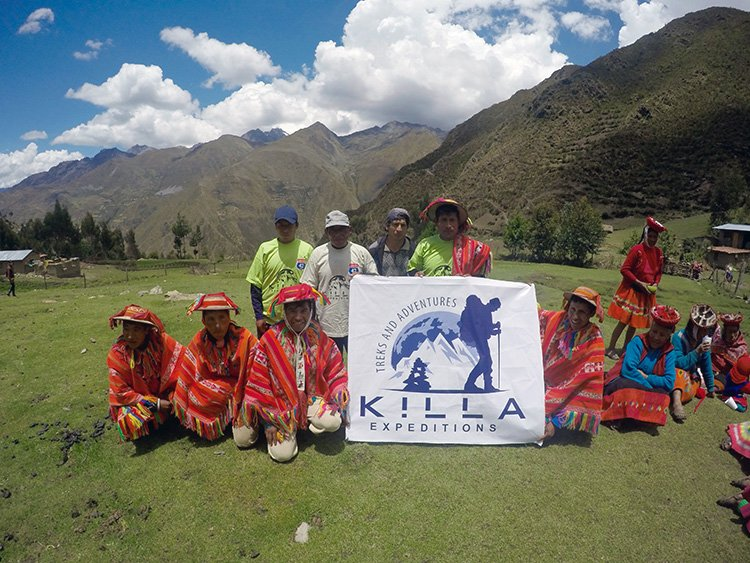 Killa Expeditions Staff in Willoc Community at Killa Expeditions Christmas Charity Event Cusco, Peru December 2016