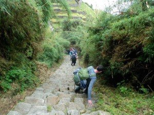 Inca Trail Steps on the Classic 4 Day Inca Trail Trek cusco machu picchu peru killa expeditions