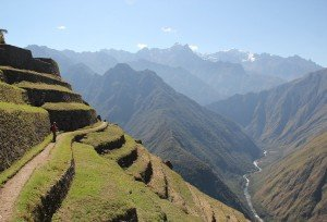 intipata ruins on the Classic 4 Day Inca Trail Trek cusco machu picchu peru killa expeditions