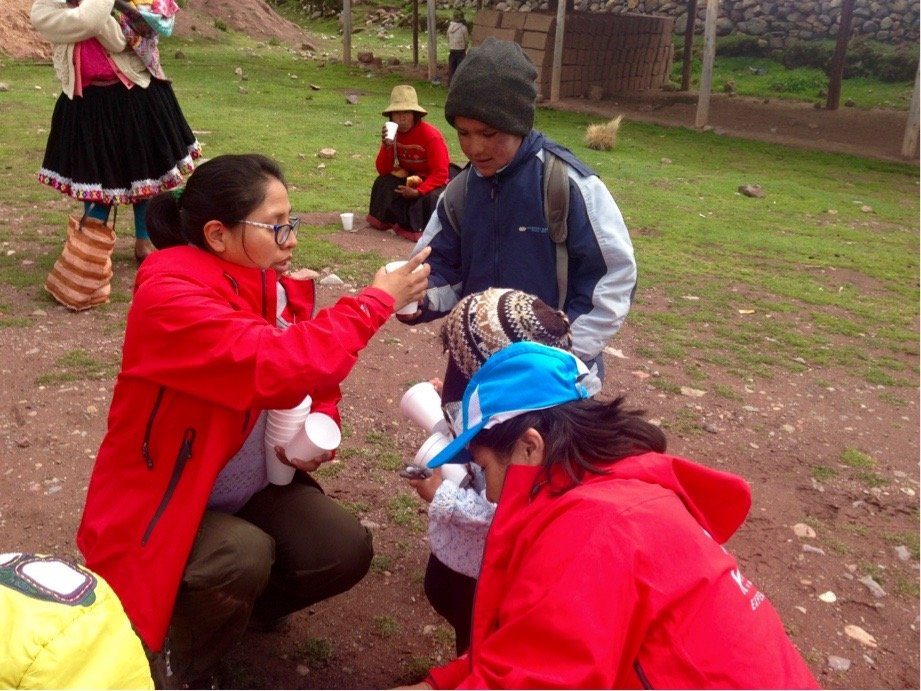charity event at chillca village in the rainbow mountains of cusco peru killa expeditions