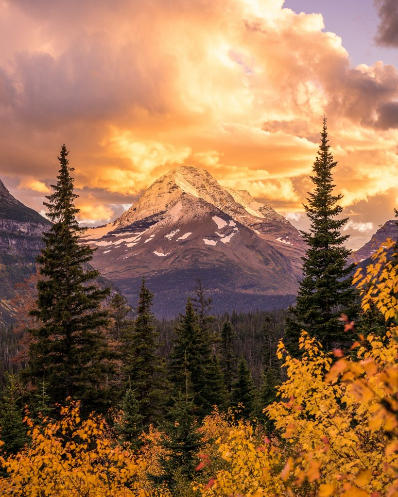 Nate Luebbe Photography - Sunset Over Mountains