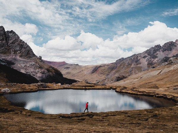lake along the ausangate trail