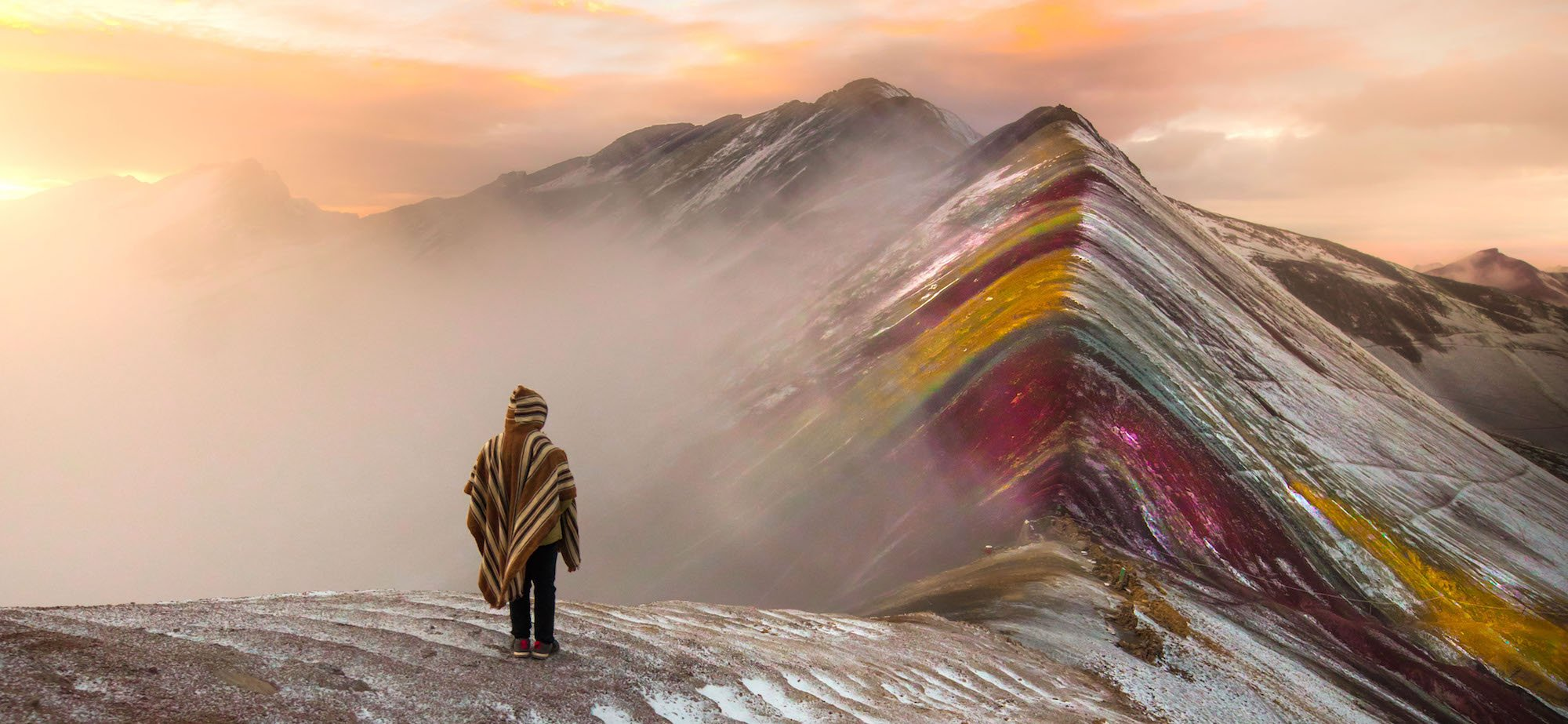 trek the rainbow mountain to macchu picchu