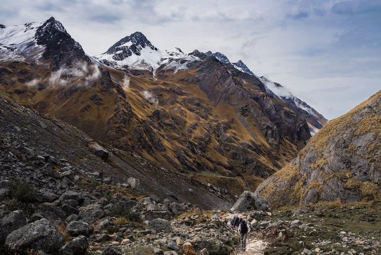 Hiking on Salkantay Trek Thatcher Brusilow for Killa Expeditions small