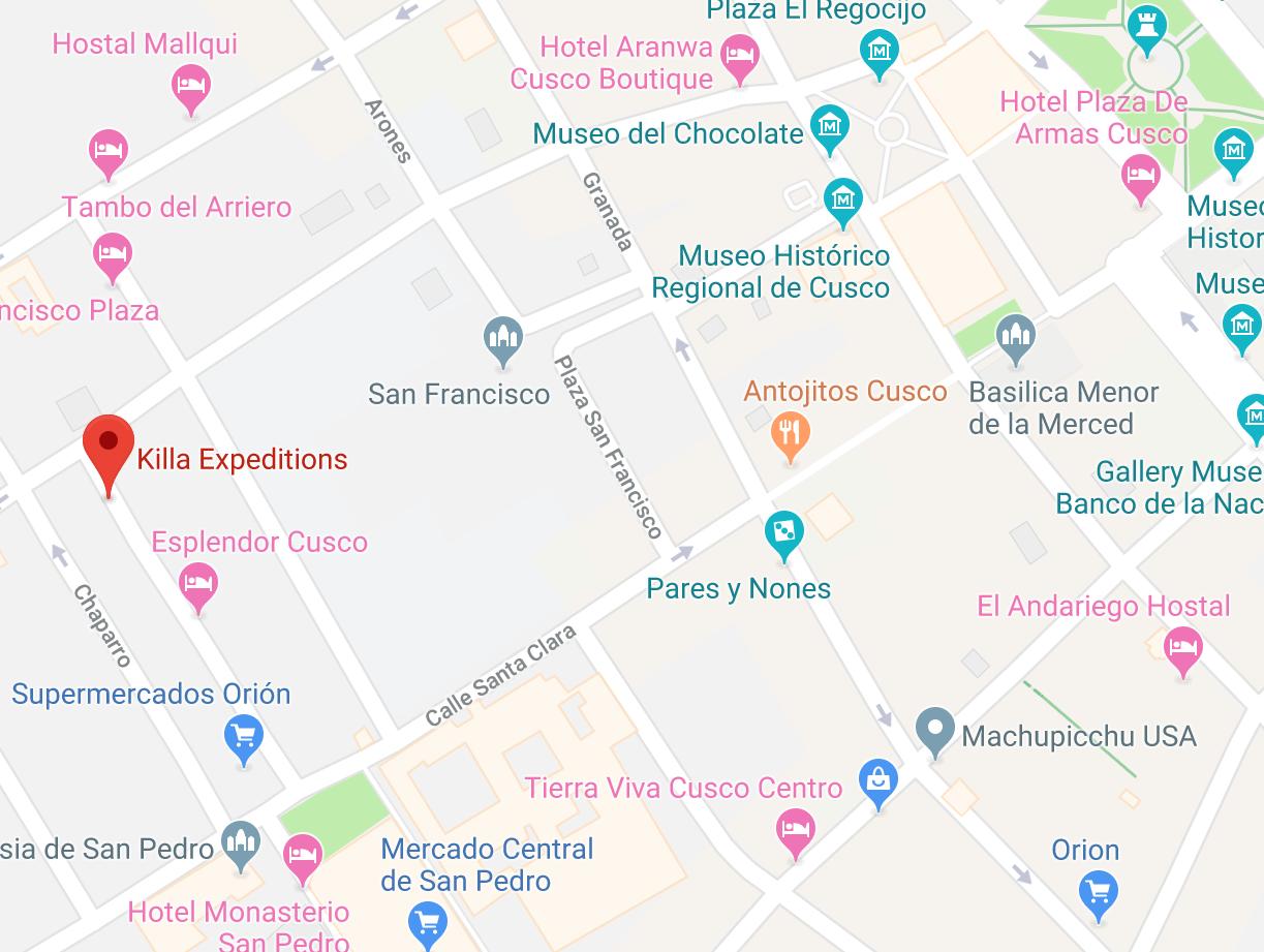 Map Cusco